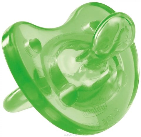 Пустышка Physio Soft,1шт.,12мес.+,силикон, (зеленый)