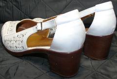 Белые босоножки на низком каблуке Marani Magli 031 405 White.