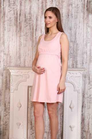 Мамаландия. Сорочка для беременных и кормящих с горизонтальным секретом, персиковый вид 1