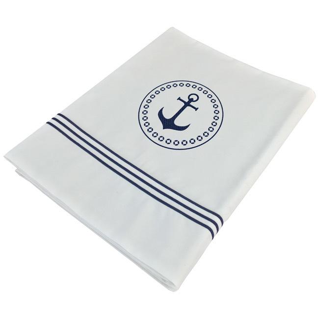 Santorini Savanna top sheet & pillowcase / single white
