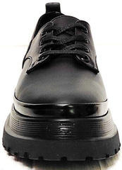 Дерби туфли кожаные женские Marani magli M-237-06-18 Black.