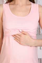 Мамаландия. Сорочка для беременных и кормящих с горизонтальным секретом, персиковый вид 2