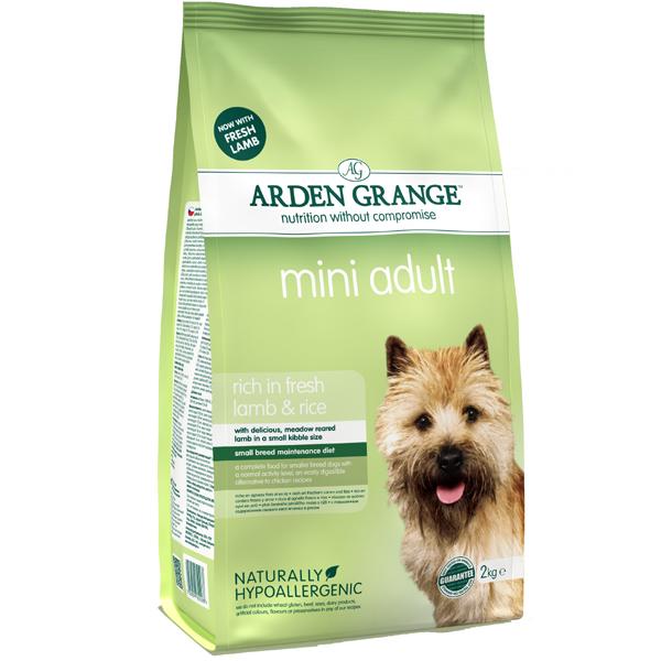 Сухой корм Сухой корм для взрослых собак мелких пород, Arden Grange Adult Dog Lamb & Rice Mini, с ягненком и рисом Mini_Lamb_and_Rice_2kg.jpg
