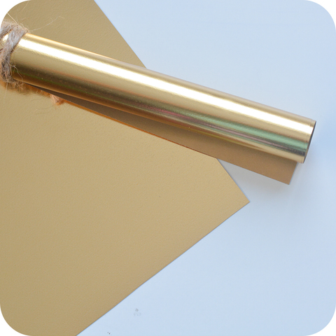 Термотрансферная фольга, цвет золото, размер отреза 25*25см