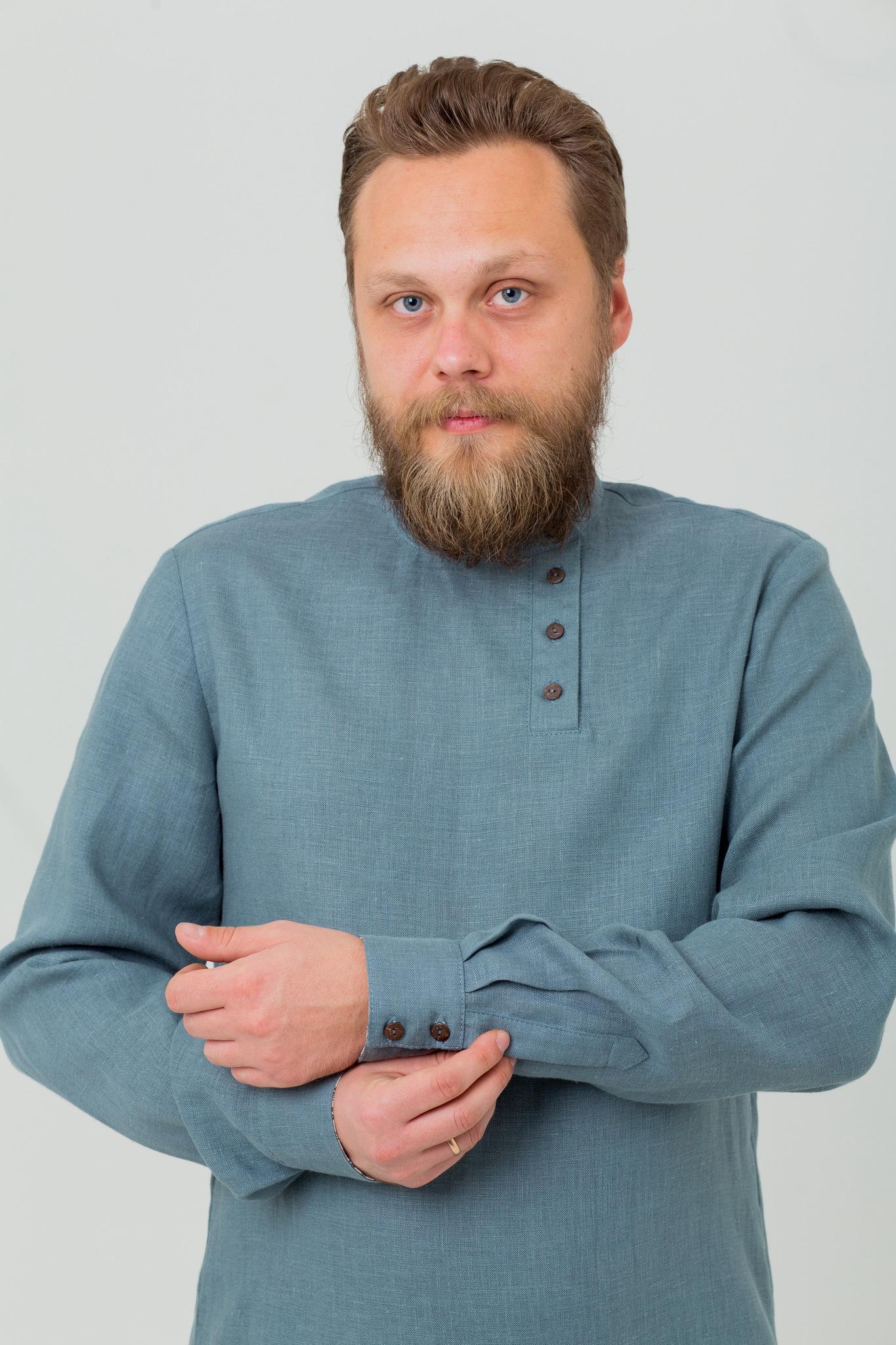 Современная мужская русская косоворотка с доставкой