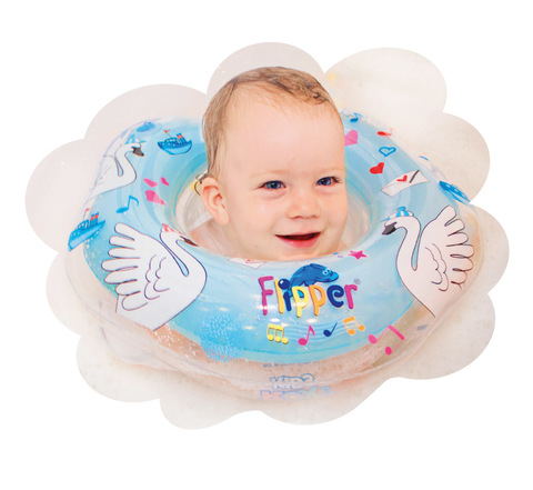 Надувной круг на шею для купания малышей Flipper 0+ с музыкой из балета