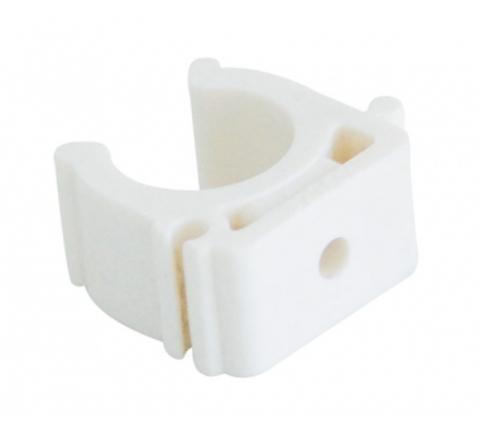 Kalde 25 крепление белое полипропиленовое для труб