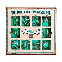 Набор Eureka Зеленый из 10 металлических головоломок