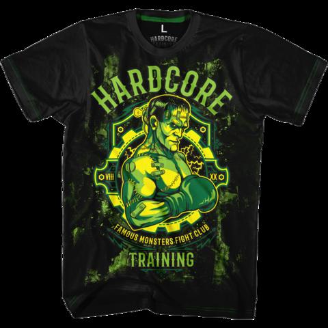 Футболка Hardcore Training Famous Monster Fight Club зеленая