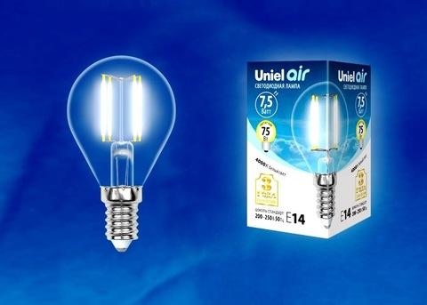 Uniel Лампа LED-G45-7,5W/NW/E14/CL Air (белый свет)