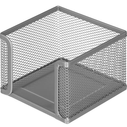 Подставка для блок-кубиков Attache (металлическая сетка, 105x105x78 мм, серебро)