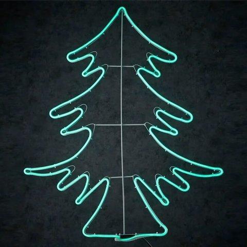 Декор неоновая елка зеленый свет 600 ламп 67x84 см