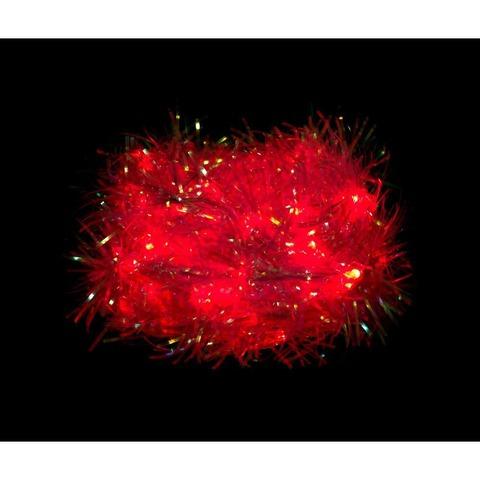 Гирлянда «Мишура», красная, CL40 (Feron)