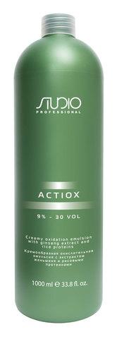 Кремообразная окислительная эмульсия с экстрактом женьшеня и рисовыми протеинами,Kapous Studio ActiOX 9%,1000 мл