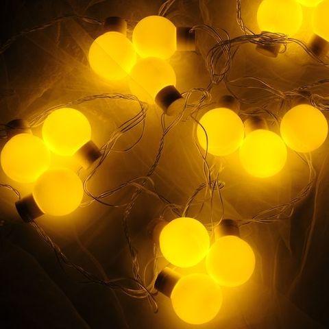 Гирлянда шарики большие желтый цвет