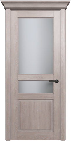 CLASSIC 533 Дуб Серый стекло Сатинато Белое