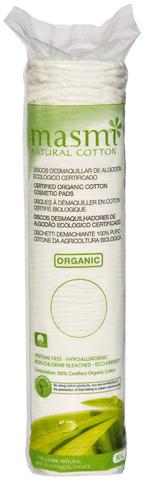 Masmi Natural cotton гигиенические косметические диски из органич. хлопка 80 шт