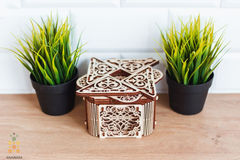 Сборная деревянная модель Таинственная шкатулка (Wooden City). 3D пазл