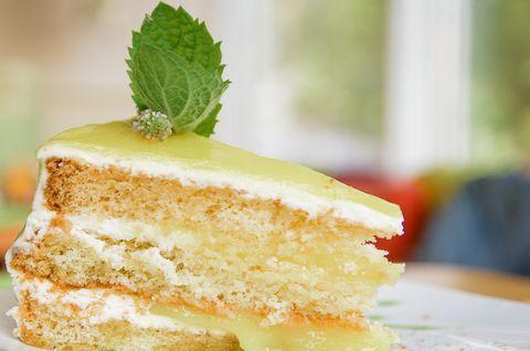 Лимонный торт без глютена с измененной рецептурой