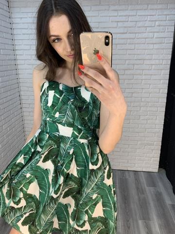 сарафан с зелеными листьями купить