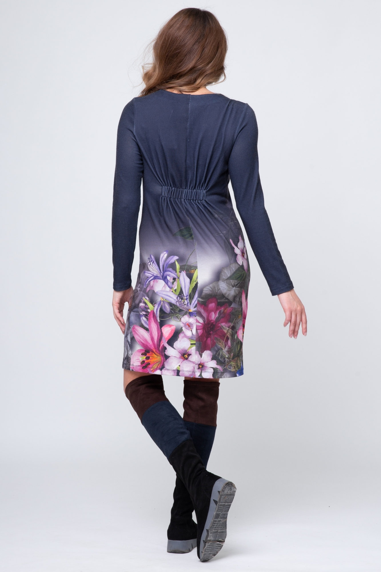 Платье для беременных 05890 синий
