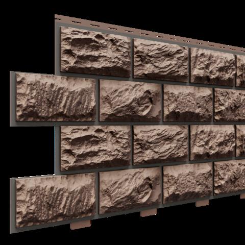 Фасадные панели (Цокольный Сайдинг) Доломит Альпийский Премиум Турмалин