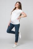 Джинсы для беременных (BOYFRIEND) 12417 синий