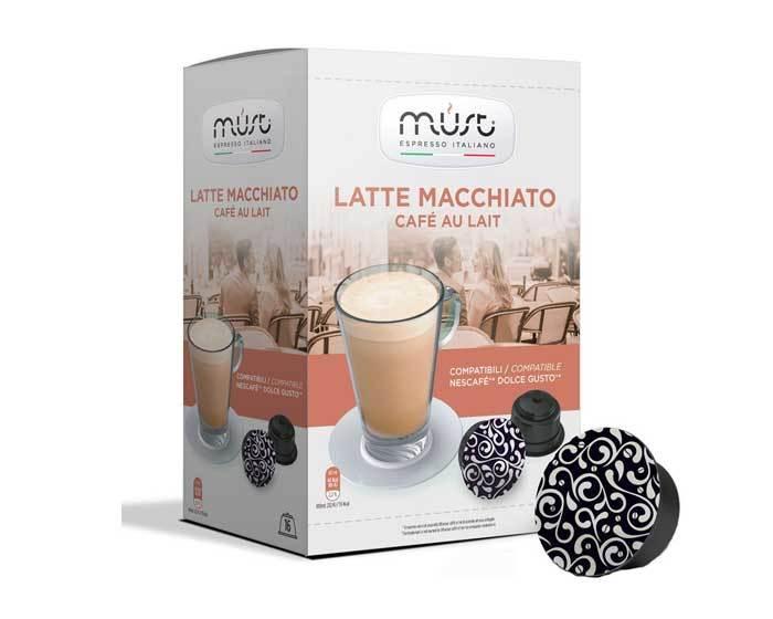 Кофе в капсулах Must Latte Macchiato, 16 капсул для кофемашин Dolce Gusto