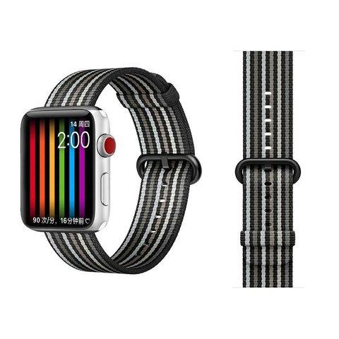 Ремешок COTEetCI W30 Nylon Rainbow Band (WH5251-BG-38) для Apple Watch 38мм/ 40мм Черно-Графитовый