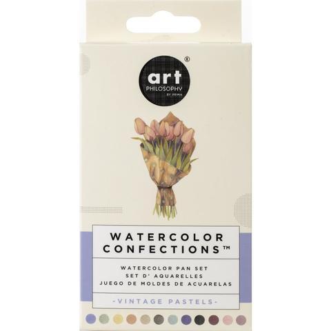 Акварельные краски Prima Marketing Watercolor Confections Watercolor Pans 12шт. -Vintage Pastel
