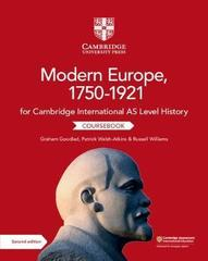 Look InsideCambridge International AS Level History Modern Europe, 1750–1921 CoursebookSample Content Cambridge International AS Level History Modern