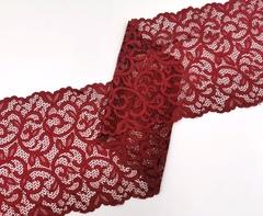 Эластичное кружево, ОПТ, 20 см, гранатово-красный, (Арт: EK-2237), м