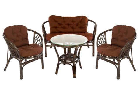 Комплект мебели для отдыха «Багама», цвет махагон