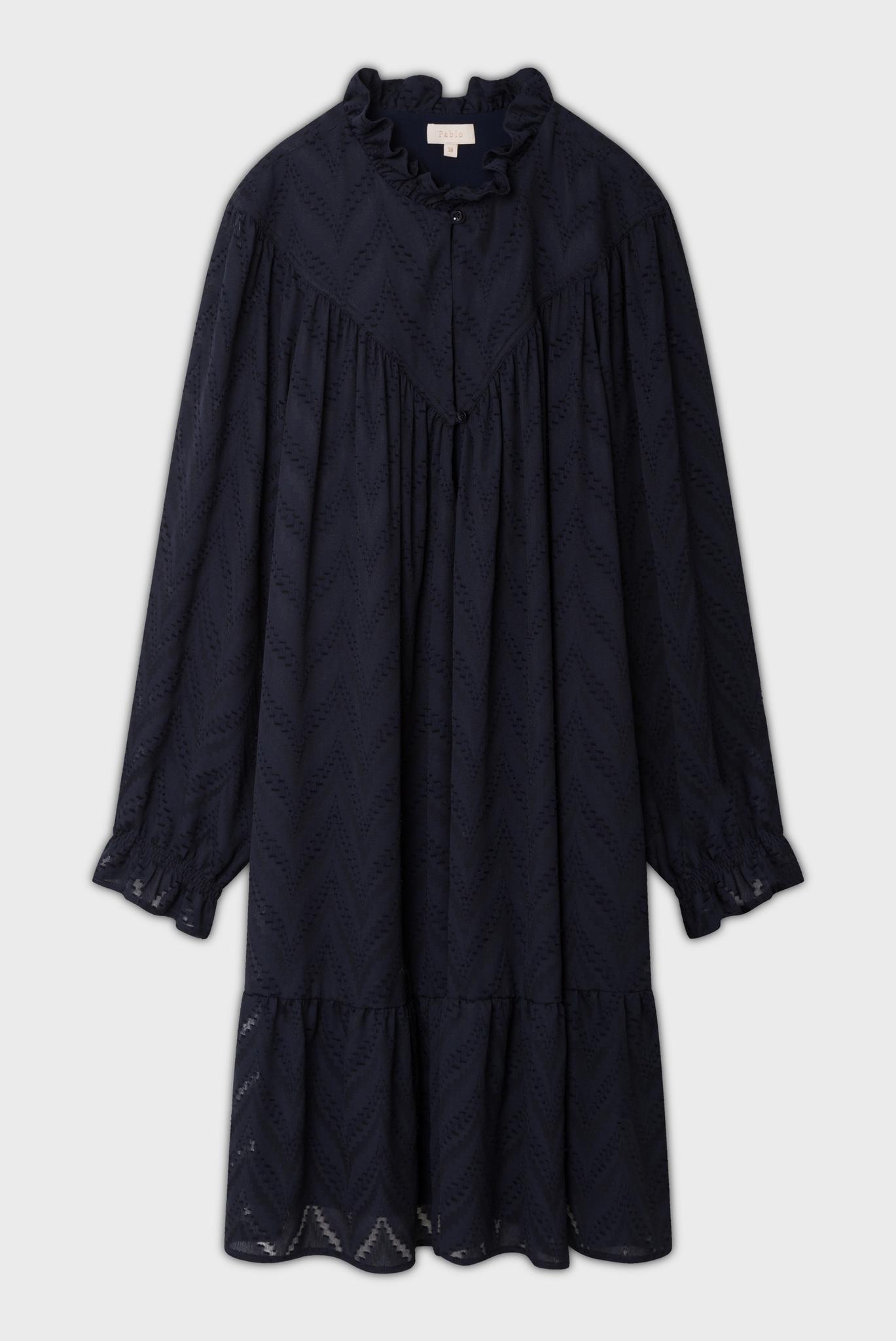 Свободное платье с оборками