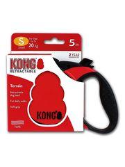 Поводок-рулетка Kong Terrain S (до 20 кг), лента 5 метров, красная