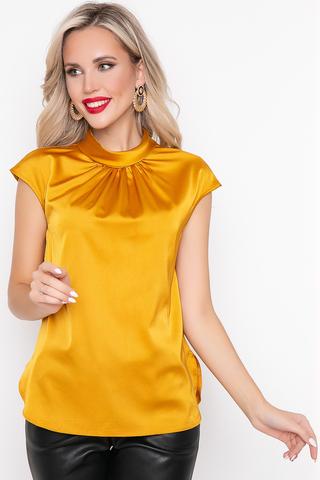 """<p><span>Этот блузон выполнен в самых модных цветовых гаммах этого сезона! Прямой силуэт и ворот """"стойка"""" - оригинальное решение наших дизайнеров. Попробуй и удиви!</span></p>"""