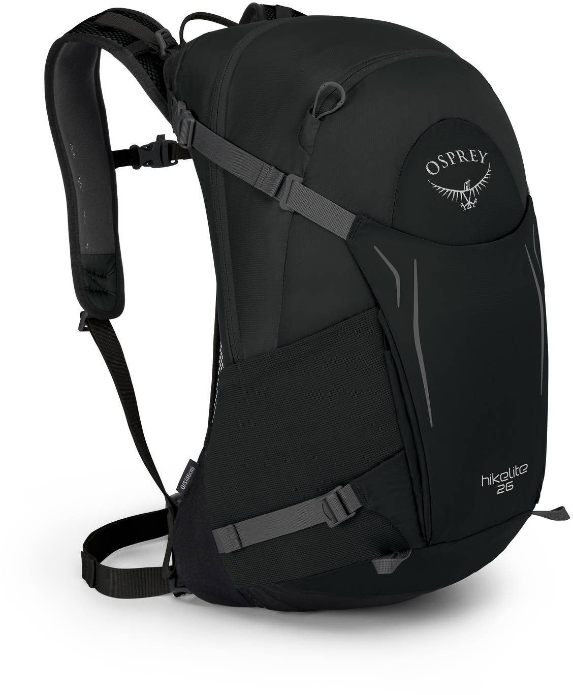 Туристические рюкзаки Рюкзак туристический Osprey Hikelite 26 Black HIkelite26_S18_Side_Black_web.jpg