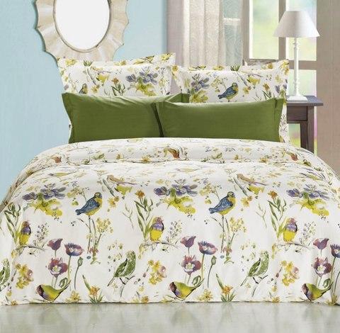 Сатиновое постельное бельё  1,5 спальное Сайлид  В-157