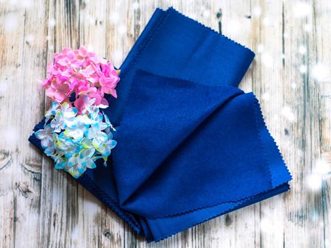 Тканина декоративна для іграшок, Нубук синій. Відріз 34х50 см