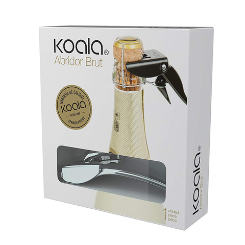 Открывалка для игристых вин Brut Koala, хром