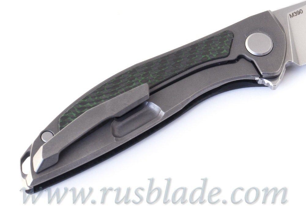 Shirogorov 2020 HatiOn Zero M390 GREEN CARBON FIBER MRBS - фотография