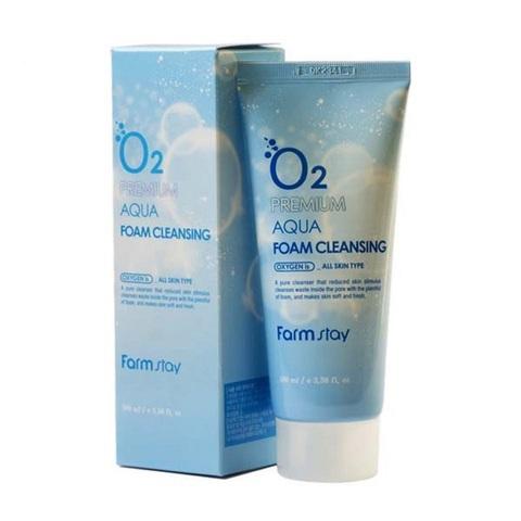 Farmstay O2 Premium Aqua Foam Cleansing кислородная пенка для очищения кожи