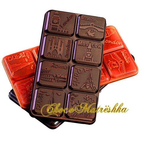Форма поликарбонатная для шоколада (Италия) - Плитка-Столицы