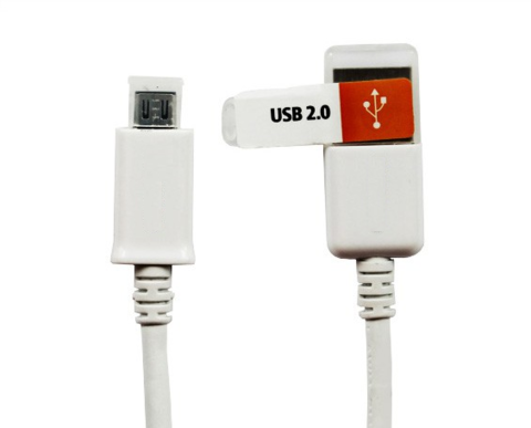 Кабель microUSB - USB белый | колпачок