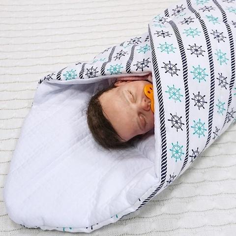 Farla. Конверт-одеяло на выписку Dream Штурвалы, весна/осень