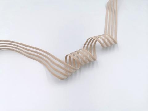 Резинка с прозрачными нейлоновыми вставками, 3 см, серебристый пион, м