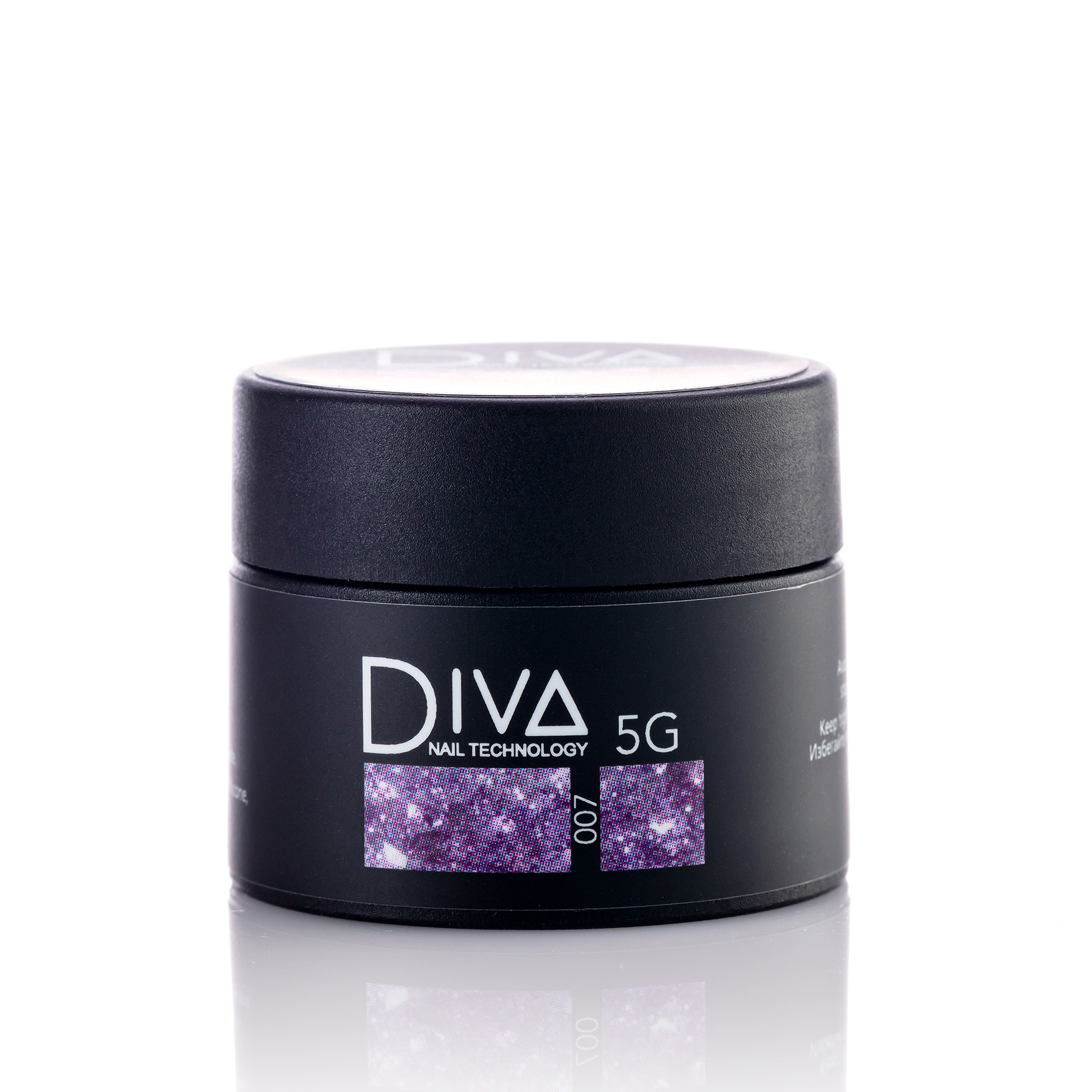 Гель-лак DIVA Glitter Gel 007 5г