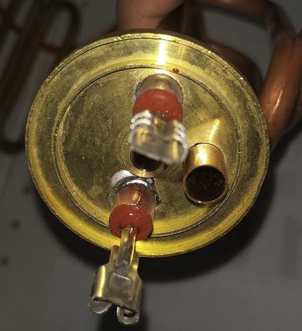 Тэн фланец 40мм 1200 watt дл. контакт