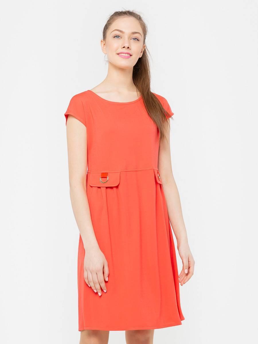 Платье З106-277 - Платье свободной формы со спускной линией плеча и завышенной талией. С обувью на каблуке прекрасный вариант для свидания, с балетками как наряд на каждый день.