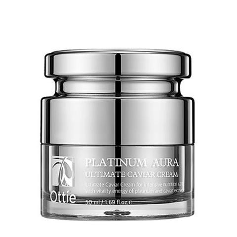 Ottie Platinum Aura Ultimate Caviar Cream антивозрастной крем для лица с экстрактом черной икры для любого типа кожи